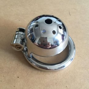 Stealth Lock Male Stainless Steel Chastity Device,Super Small Cock Cage,Penis Virgin