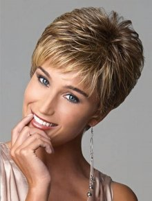 Beautiful New Short Straight Synthetic Hair Woman Wigs