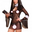 Sexy Nuns Uniform Lingerie Exotic Babydolls Transparent Nun Halloween Role Play