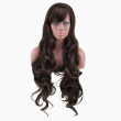high quality woman wigs dark brown long curly brown wig cosplay resistant cheap