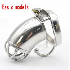 Unique Design Cock Cage Stainless Steel Male Chastity Belt with New Style Lock Men