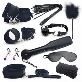 10pce/ Set sexy toys Adult Game sex Bondage Restraint,Handcuffs Nipple Clamp Whip