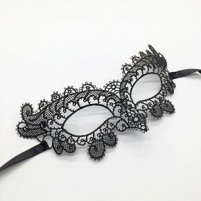 5Pcs/Lot Black Hard Lace Mask Party Sexy girl Mask Masquerade Mask Dress Venetian