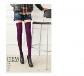 1 pair spring fall women's long sexy silk sock student dance knee-high sock Japanese