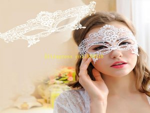 500pcs/lot black/white Mysterious Angel Lace Mask Halloween Party Sexy Mask Masquera
