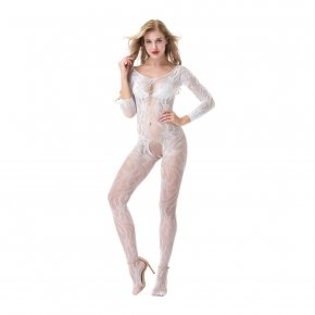 Open Crotch Fishnet and Lace Bodystocking