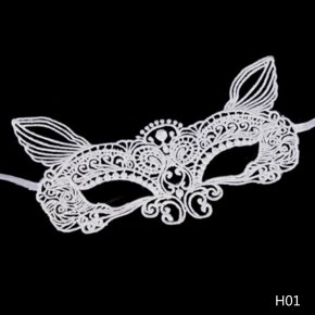 New Girls Halloween Ball Mask Women white Black Sexy Lady Lace Masks for Masquerade