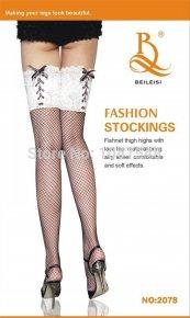 Women Fashion sexy fancy stocking bowknot fishnet stockings silk mesh lace stockings