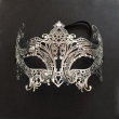 Fashionable silver Phantom Metal Rhin Laser Cut Christmas Masquerade Costume Half