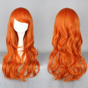 MCOSER One Piece after two years Nami Wig Long Curly Orange Synthetic Women Girls