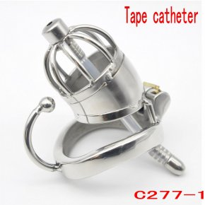 New Super Short Male Chastity Device 45MM Adult Cock Cage With Urethral Catheter
