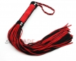 65cm Spanking Suede Leather Whip, 100% Handmade Paddle Slave Flogger,Red