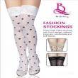 Black Spots Sexy Women Thin Thigh High Silk Stocking With Lace Female stockings
