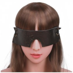 Brown Vintage Genuine Leather Sex Eye Mask Sleeping Shade Blindfold Slave Bdsm Mask Bondage Sex Toys For Woman Couples