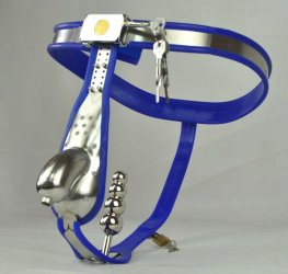 Newest Male Chastity Belt arc style Curve Waist Fully Adjustable Stainless Steel