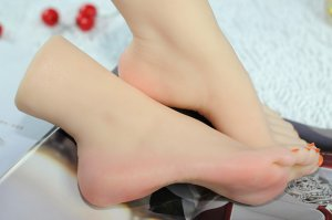 Size 37 fake foot model real medical silicone skin texture female fake feet Foot