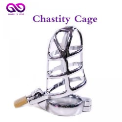 Cock Lock bdsm man Stainless Steel Lockable Penis Cage Penis Cock Ring male chastit
