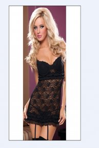 black lace harness pajamas