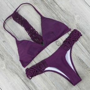 Handmade Crochet Bikini 2017 Bandage Swimwear Women Micro Bikini Set Push Up Swimsu