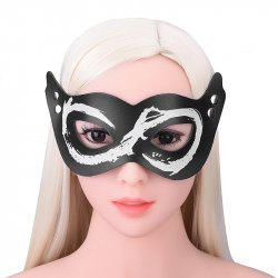 Leather Sex Eye Mask Sleeping Shade Blindfold Slave Bdsm Mask