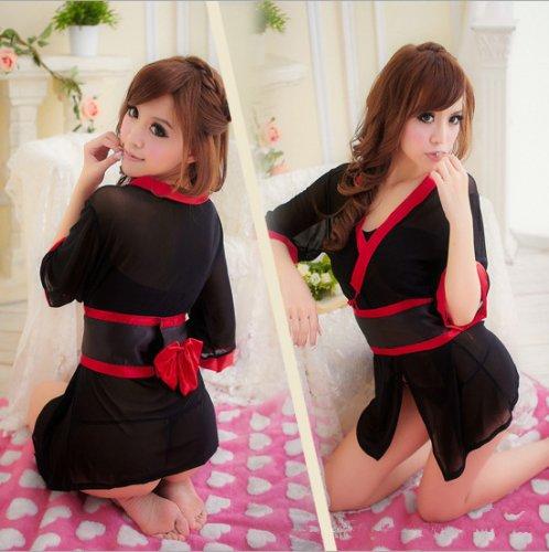 Kimono dress lenceria Sexy Lingerie sexy underwear Babydoll Sleep Wear Nightdress
