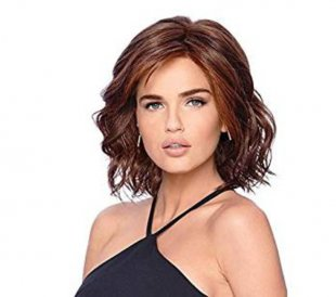 """12"""" Chin Length Wavy Auburn Layered Synthetic Wigs For Women"""