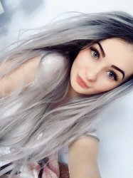 High Quality Long Fashional Grey Wigs