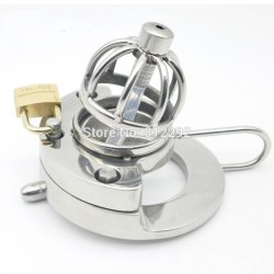 2017 NEW Super Small Male Chastity Device Adult Cock Cage With Urethral Catheter