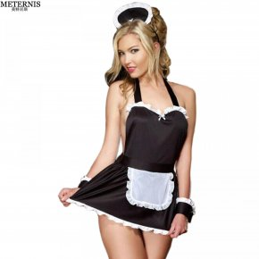 METERNIS style sexy lingerie hot hat costumes t-pant maid sexy costumes erotic linge