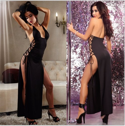 women's sexy underwears sexy nightgowns see-through dress