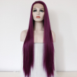 Fashion Ombre Synthetic Lace Front Wig Glueless Three Tone Wine red Resistant