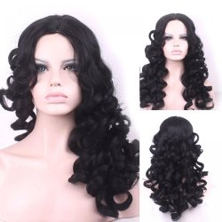 65cm Fashion Sexy Long Curly Wavy Cosplay Central Parting Women Wigs Hair Wig Girl