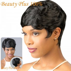 New Short Hair Wigs For Black Women Black and Short Curly Synthetic Wigs Perruque