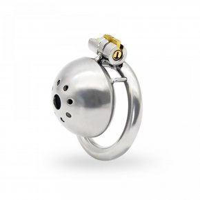 Stainless steel chastity cage with stealth lock small cage steel cock cage male