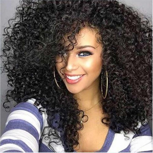 "22"" Afro Kinky Curly Synthetic Wig Female Wig Hair Long Kinky Afro Curly Hair S"