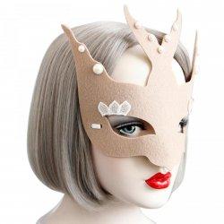1PCS Eye Mask Women Sexy Khaki Venetian Mask For Masquerade Ball Halloween Cospla