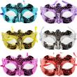 Halloween Masquerade Sexy Lady Painted Lace Mask Woman masquerade masks