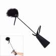 1 PCS Couples Spanking Paddle PU Leather Feather Fetish Flirting Ass Beat Whip Adult