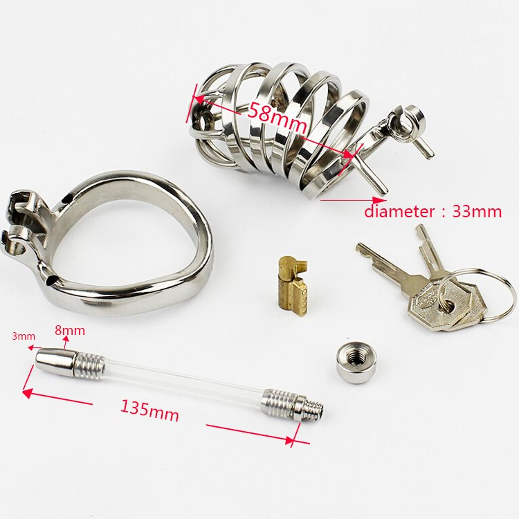 New-Male-Chastity-Device-Long-Bird-Cage-Stainless-Steel-Chastity-Belt-Sex-toys-A276-1 (4)
