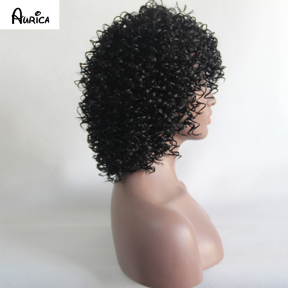 ruize black curly wig 4